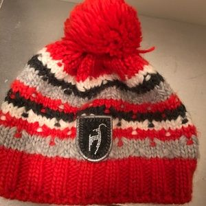 Toni Sailer red crystal beanie
